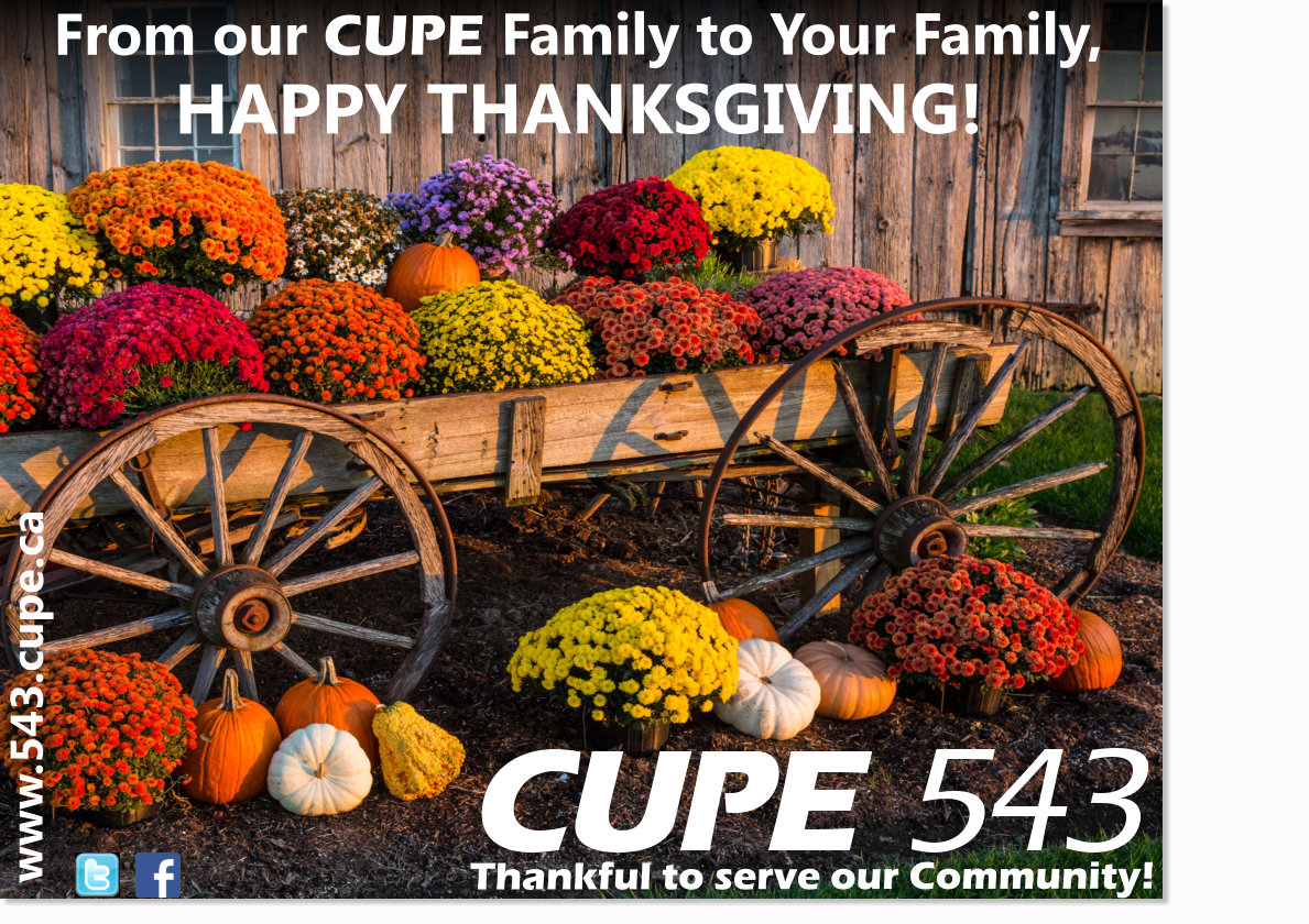 Happpy Thanksgiving CUPE