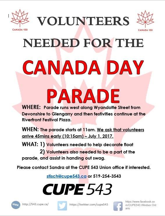 Join Us to Celebrate Canada 150!!! @ Walkerville (Parade Start) | Windsor | Ontario | Canada