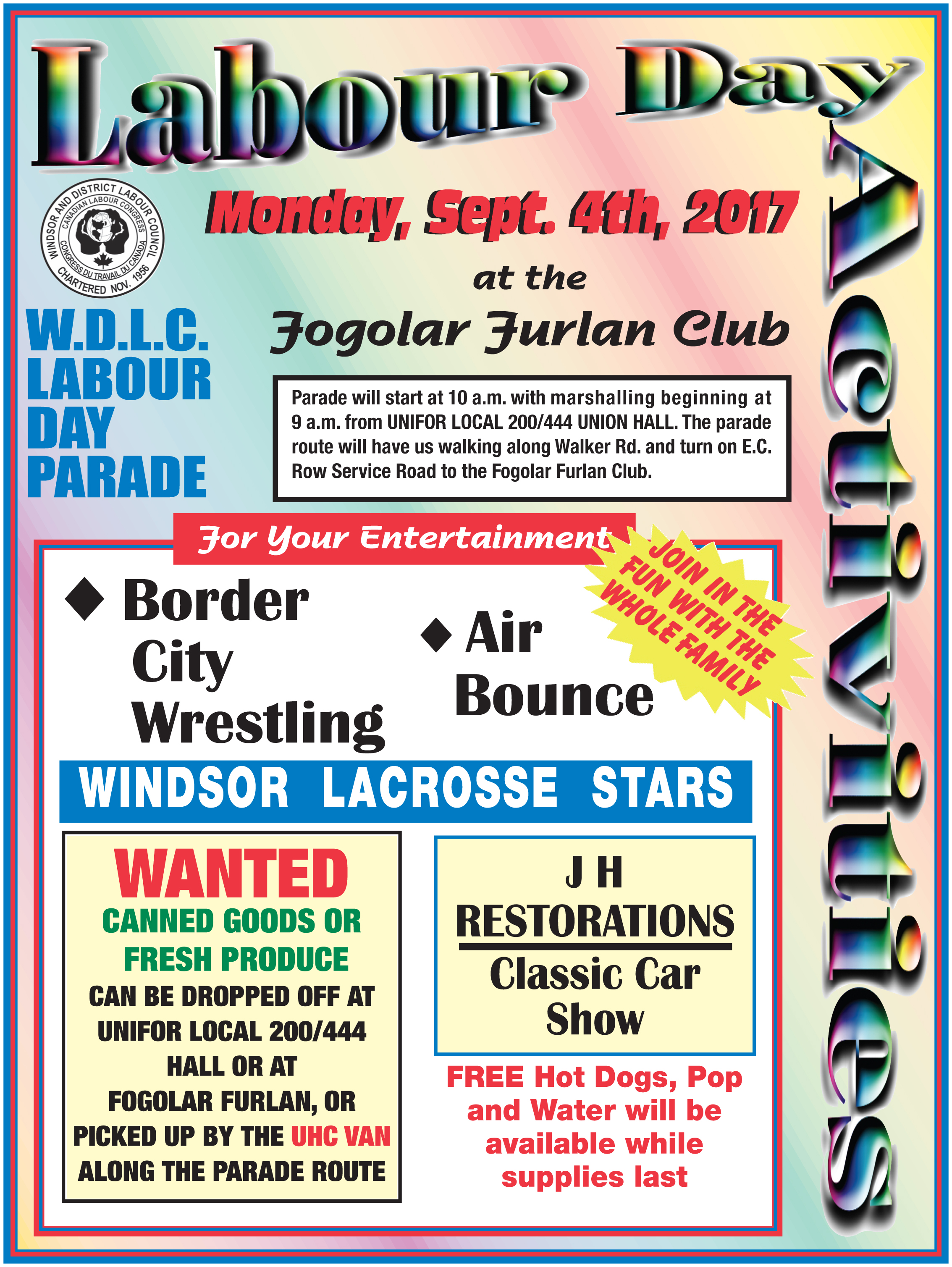 Labour Day 2017! @ Parade Start: Unifor 444 Hall | Windsor | Ontario | Canada