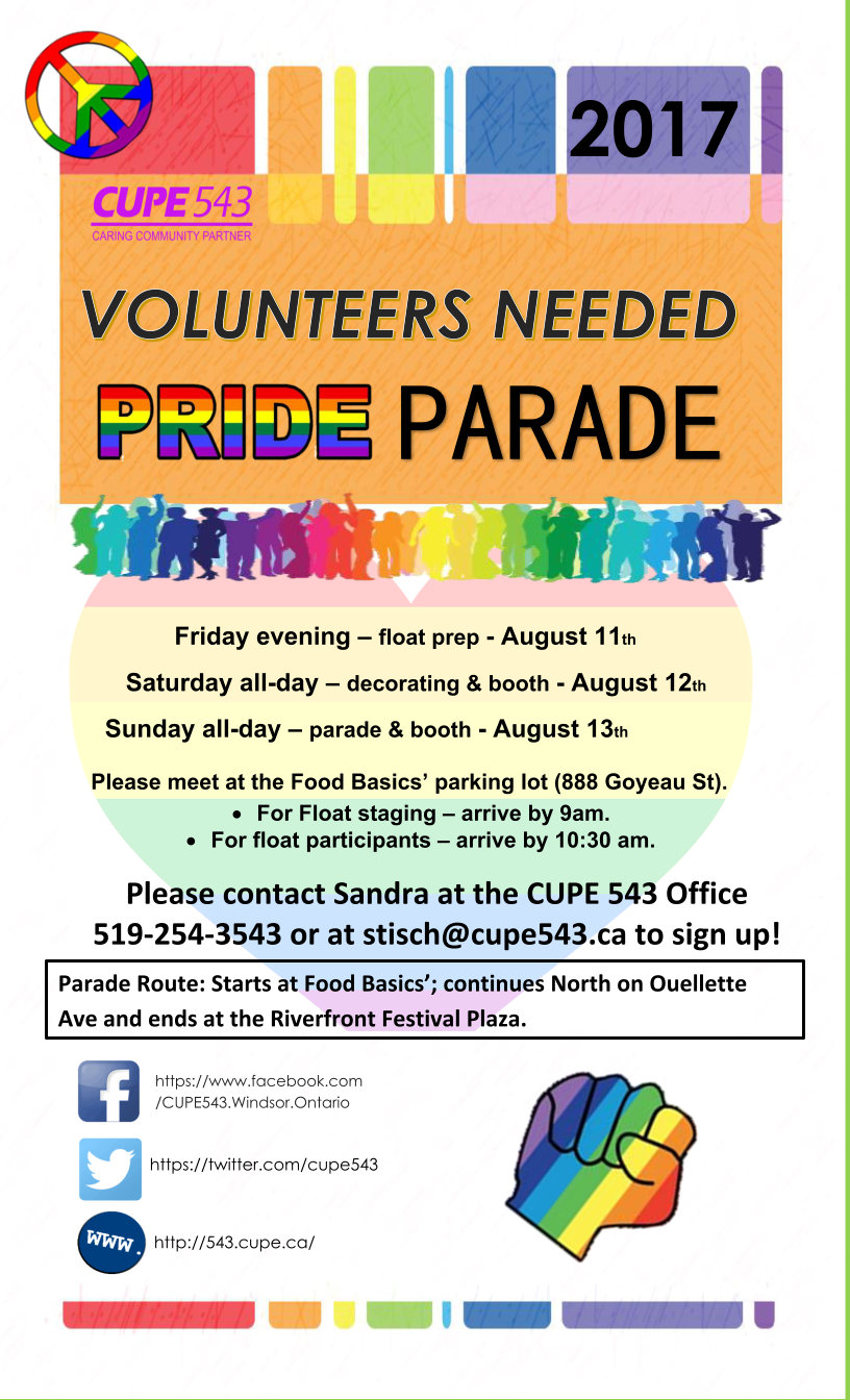 Get Your Pride On...Join us for Windsor Pride 25! @ Staging Area/Start - Food Basics Parking Lot | Windsor | Ontario | Canada