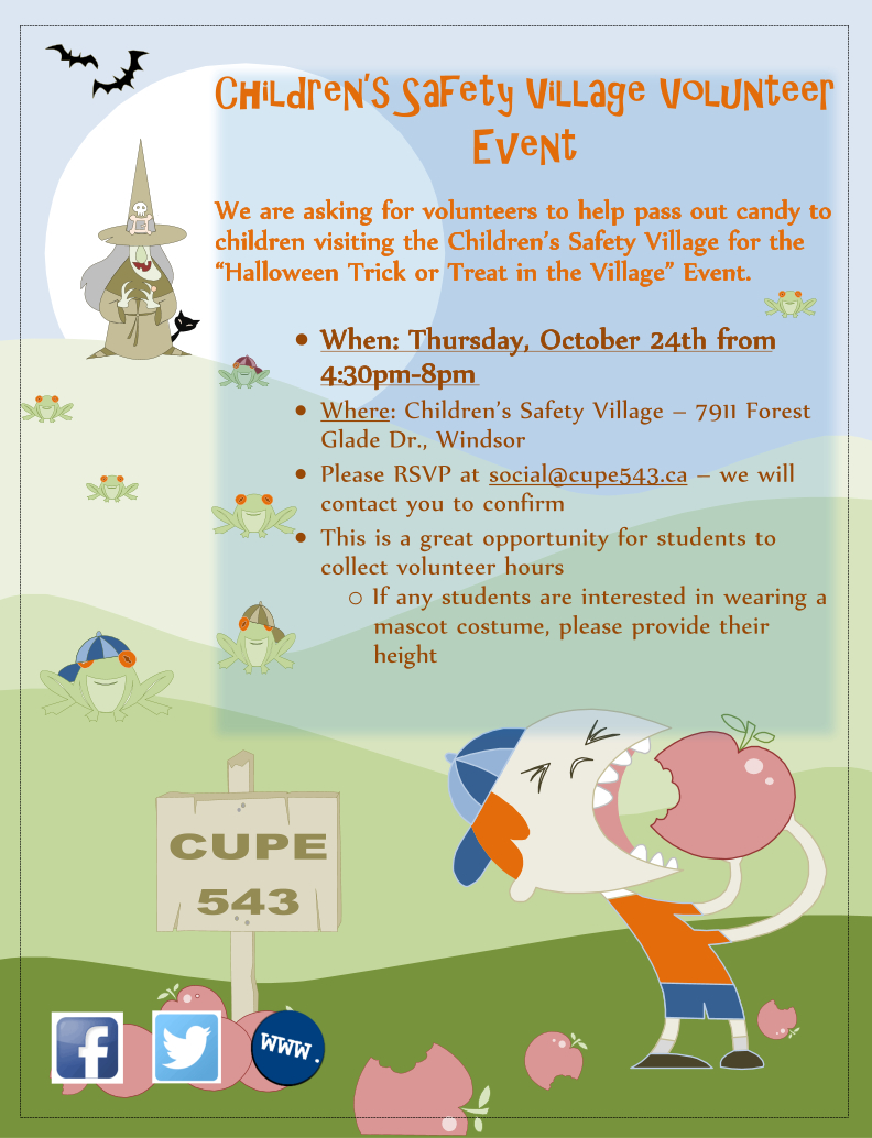 Safety Village Hallowe'en Volunteer Opportunity @ Safety Village | Windsor | Ontario | Canada
