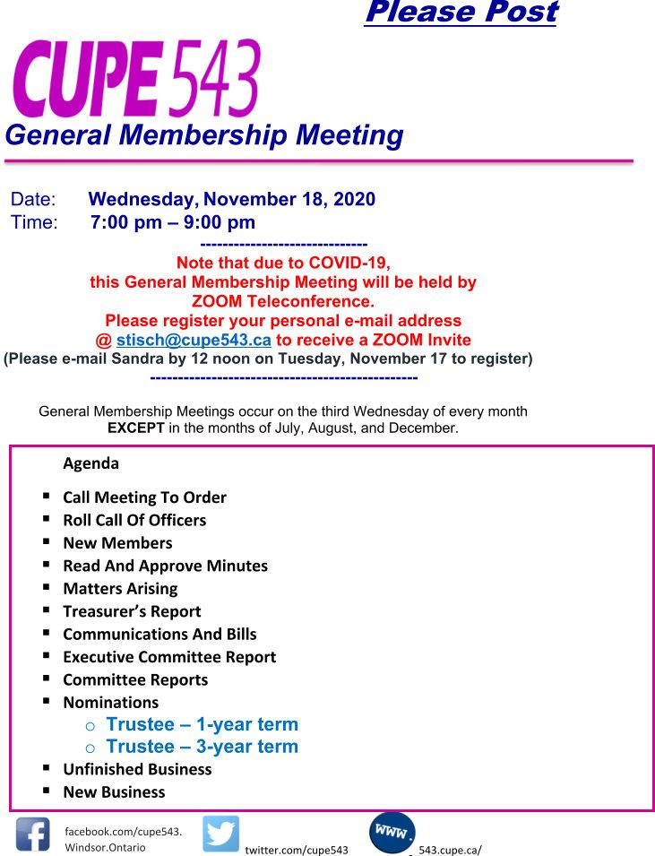 General Membership Meeting on Zoom - Pre-registration Required @ Virtual Meeting on Zoom