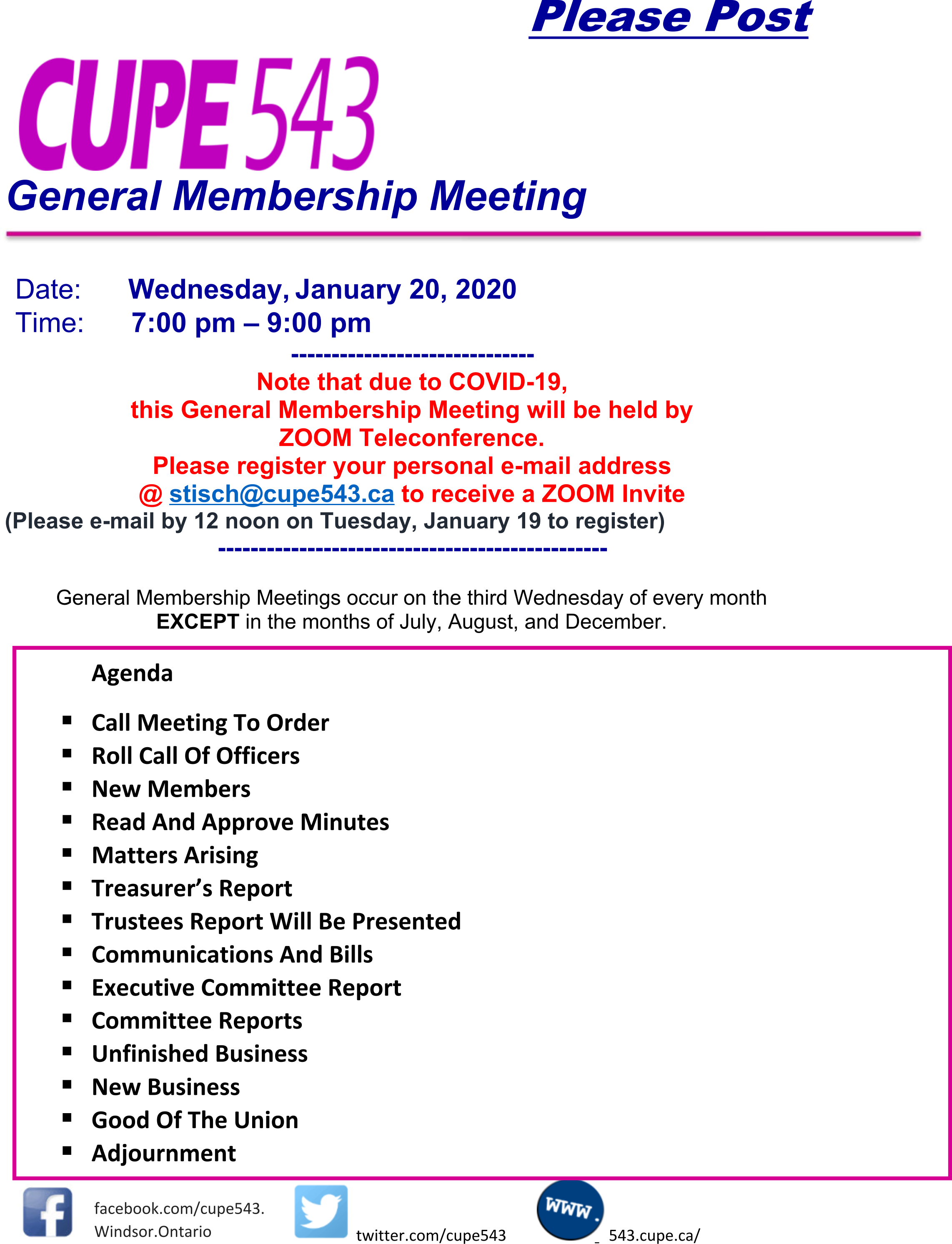 General Membership Meeting - Preregister on Zoom to Attend @ Zoom