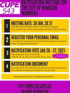 City of Windsor Ratification Meetings
