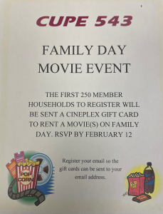 Family Day Event - Movie Night!