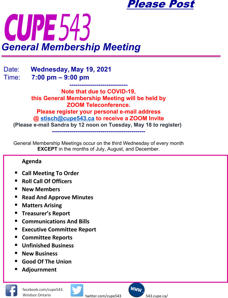 General Membership Meeting